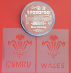 Welsh Three Feathers  face  paint set  6 Nations Wales rugby reusable Cymru  St. Davids Day